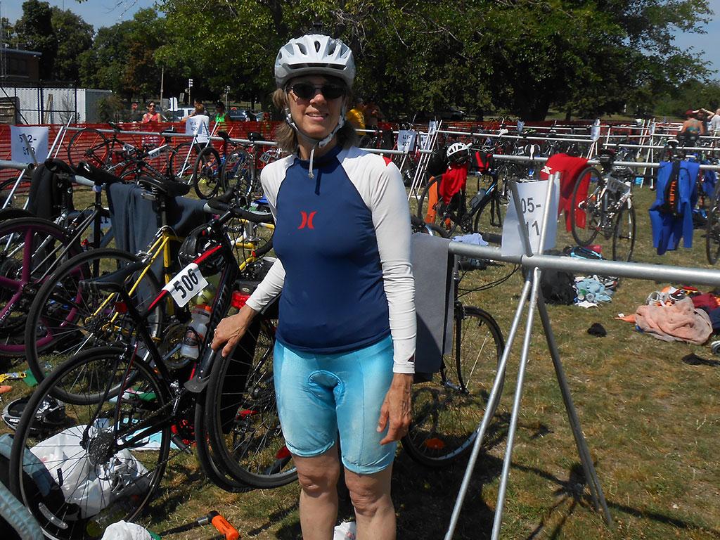 Karen Welling at Boston Triathlon.